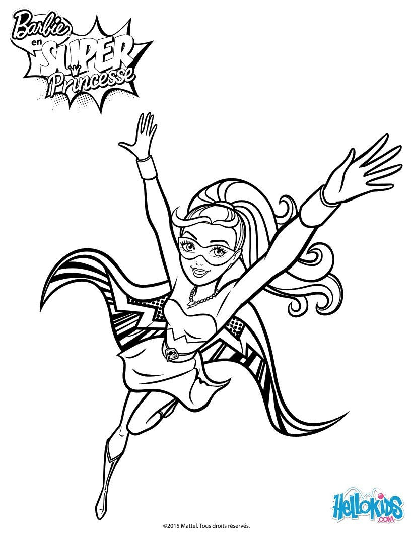 Barbie En Super Princesse 18 Coloriages Barbie Gratuits à