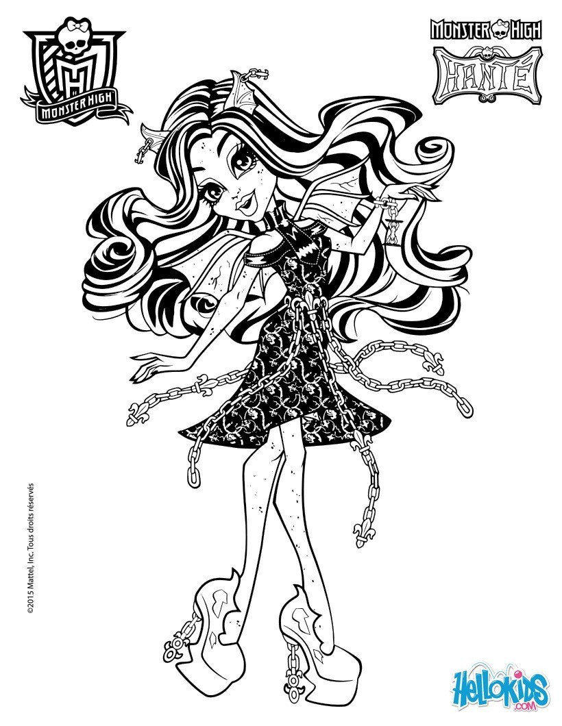 Coloriages rochelle goyle - Coloriage monster high baby ...