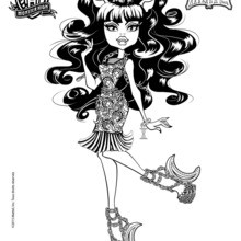 Coloriage : Clawdeen Wolf version Hanté