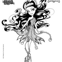 Coloriage : Spectra Vondergeist - Monster High Haunted