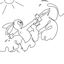 Le lapin et la mer