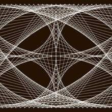 Un tableau avec des clous et du fil