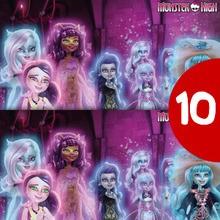 Jeu des différences : Les goules de Monster High au château