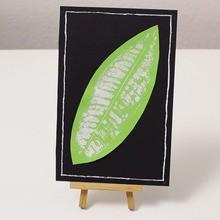 Activité : Un tableau avec une feuille d'arbre