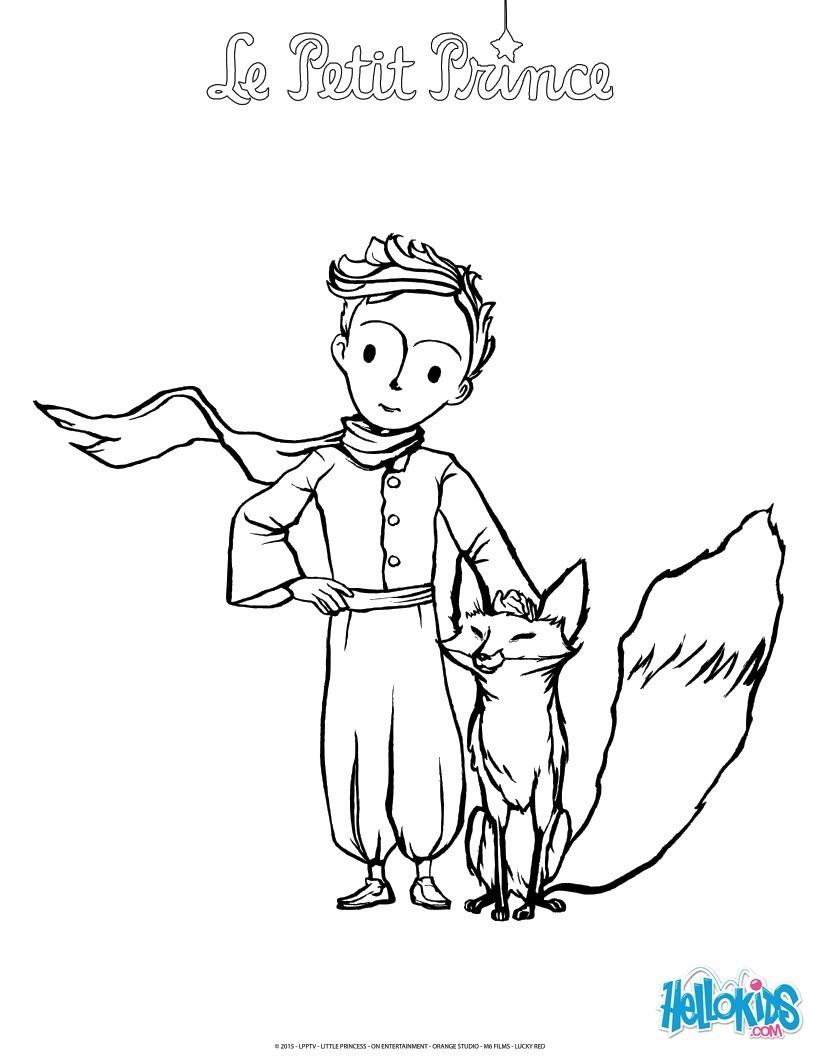 Fabuleux Coloriages le petit prince et le renard - fr.hellokids.com DH55