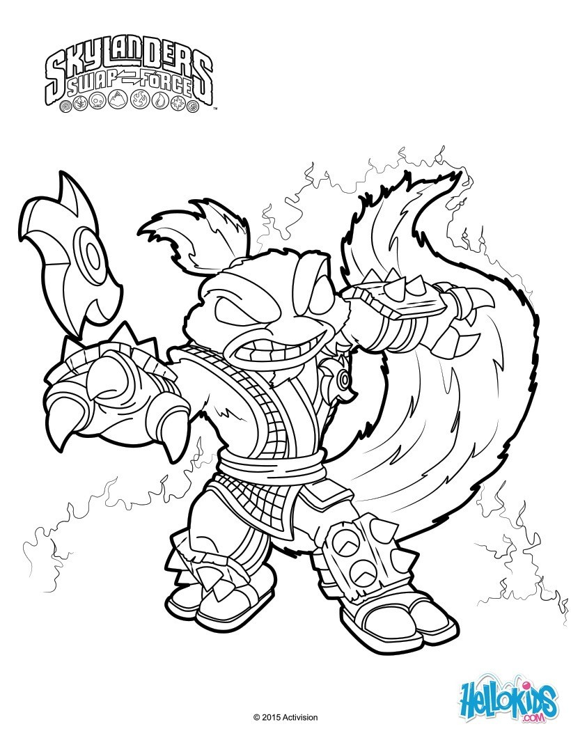 skylanders coloring pages spitfire seattle - photo#4