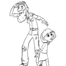 Le grand-père et la petite fille