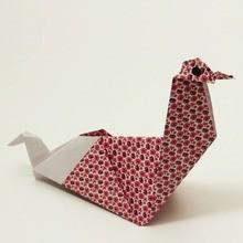 La poule origami