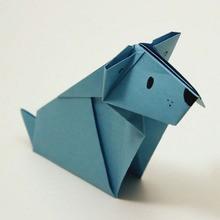 Le chien origami