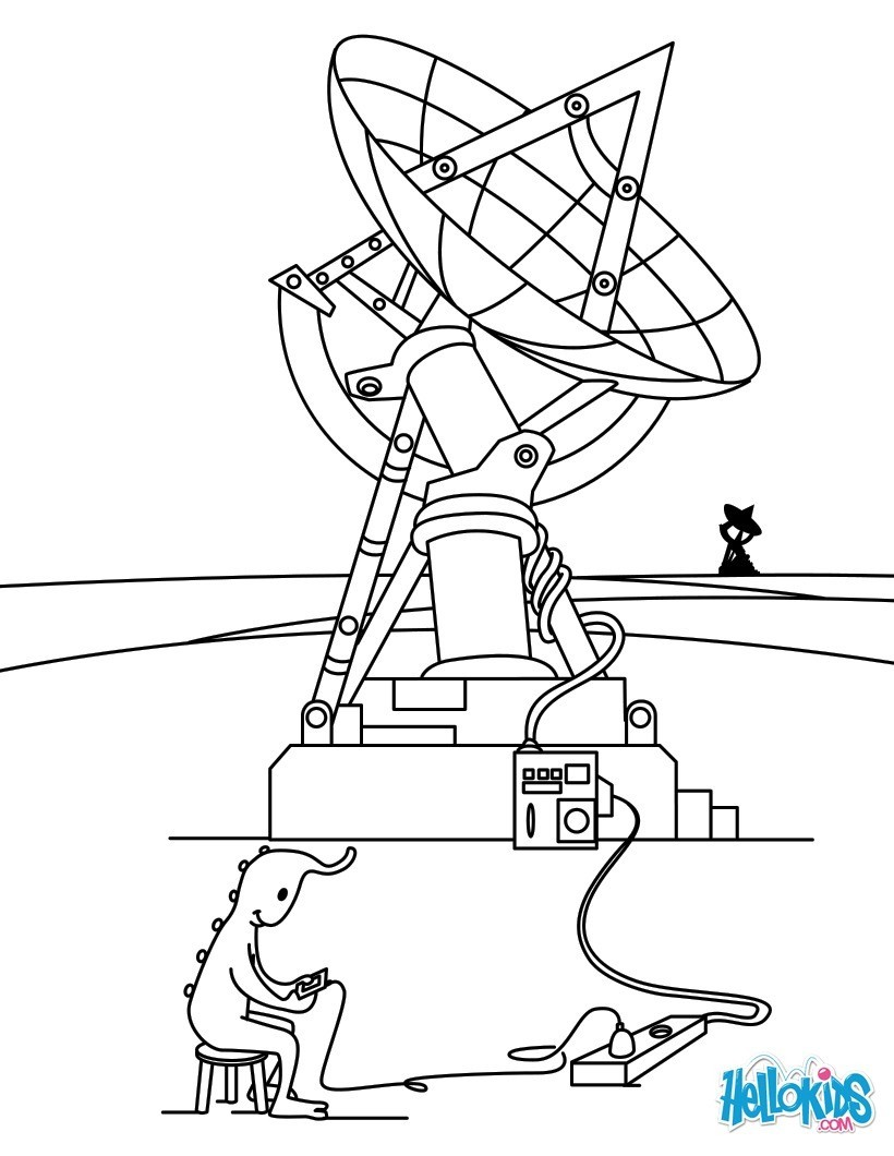 Coloriages l 39 antenne extraterrestre - Coloriage extraterrestre ...