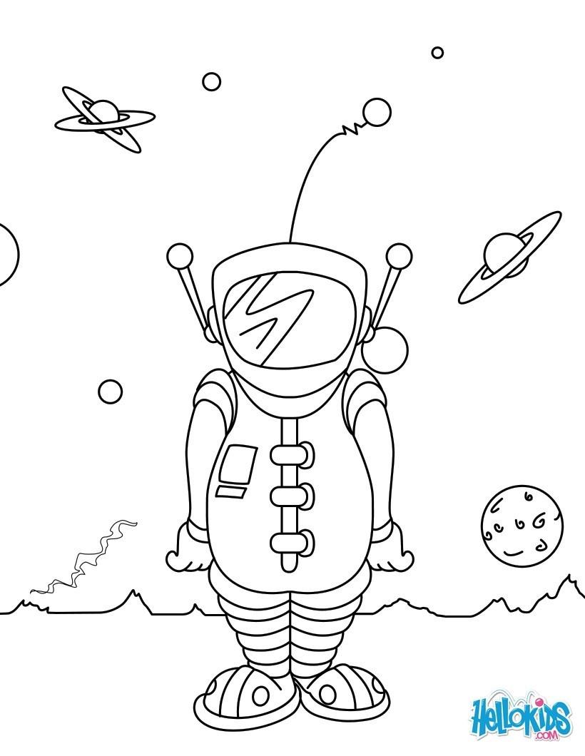 Coloriages astronaute - Dessin d astronaute ...