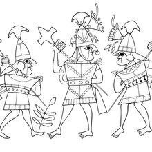 Coloriage : Guerriers mochicas
