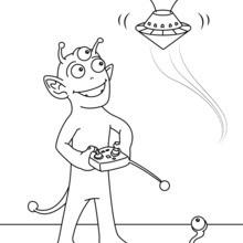 L'extraterrestre et la soucoupe téléguidée