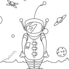Coloriage : Astronaute