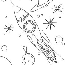 Fusée de l'espace