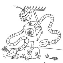 Coloriage : Robot jardinier
