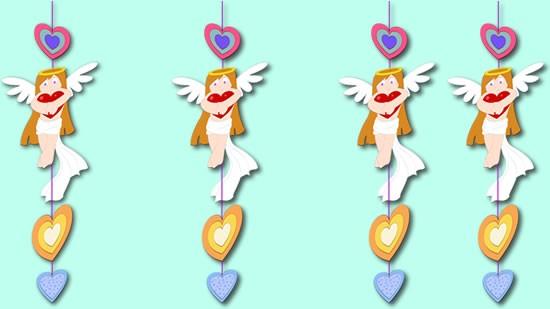 Activité : Anges et Coeurs décoration