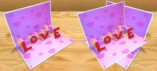 Activité : Carte Love en pop-up