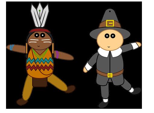 Activité : Marionnettes articulées pour Thanksgiving