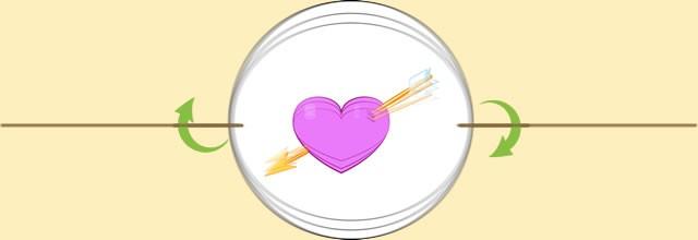 Activité : Thaumatrope coeur et flèche