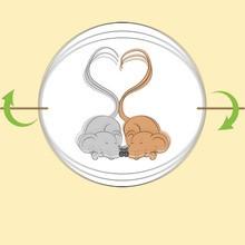 Thaumatrope couple de souris