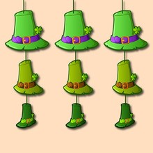 Fiche bricolage : Décorations à suspendre Chapeaux de Leprechaun