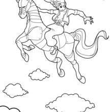 Coloriage : Le cheval enchanté