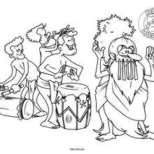 Coloriage : Maestro danse au son des tamtams