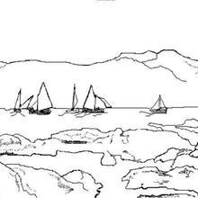 Coloriage : Bord de mer