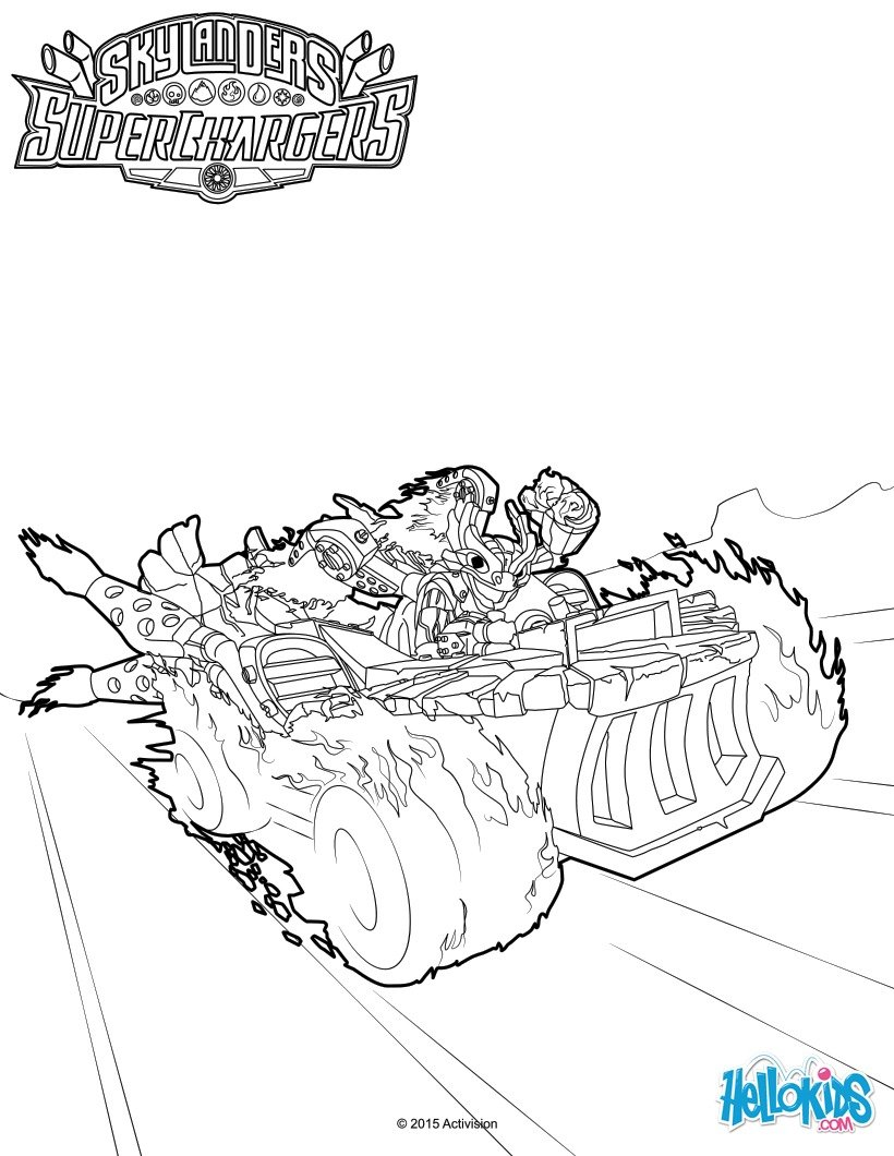skylanders coloring pages spitfire fargo - photo#2