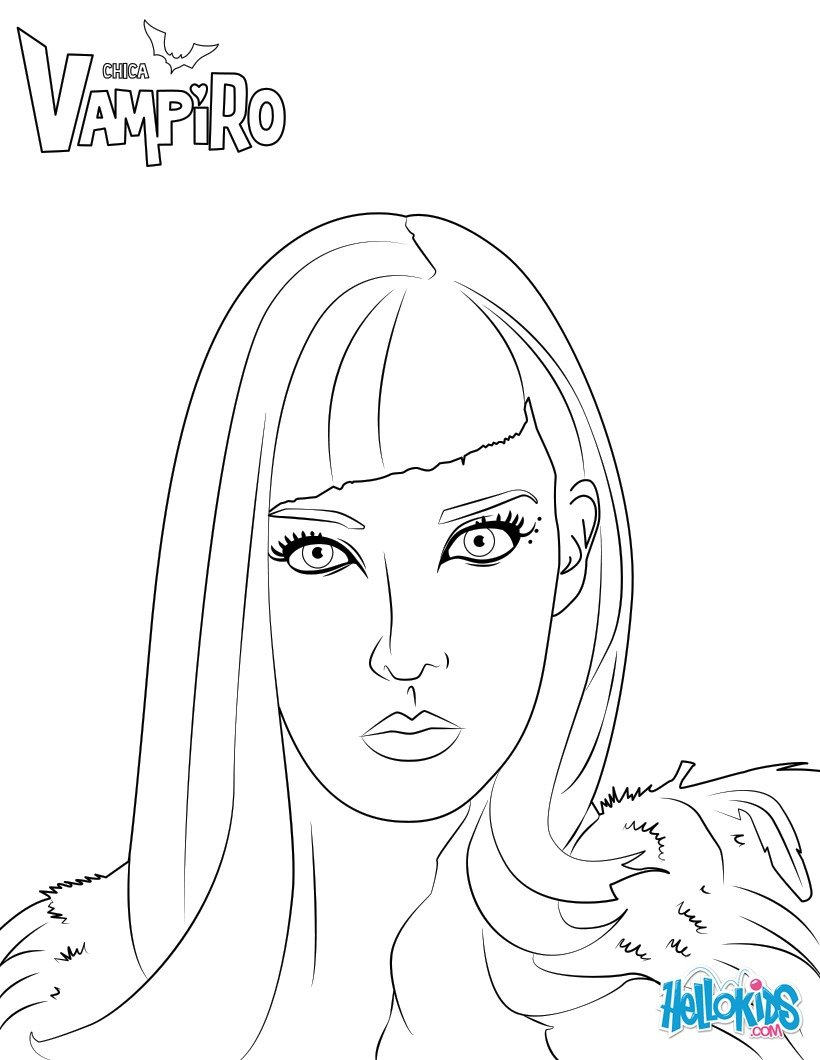 Coloriages catalina - Coloriage chica vampiro ...