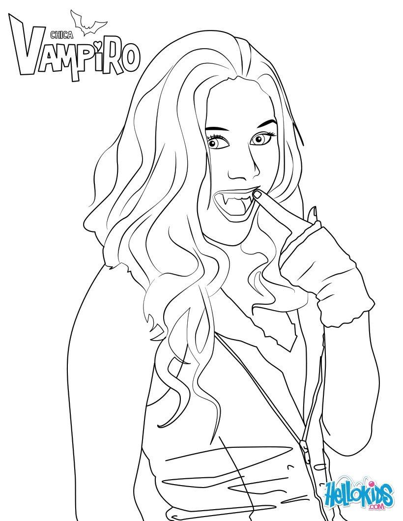 Coloriages daisy - Coloriage chica vampiro ...