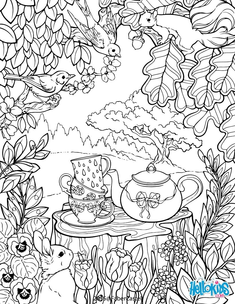 Coloriages mandala jardin secret for Image de jardin a imprimer
