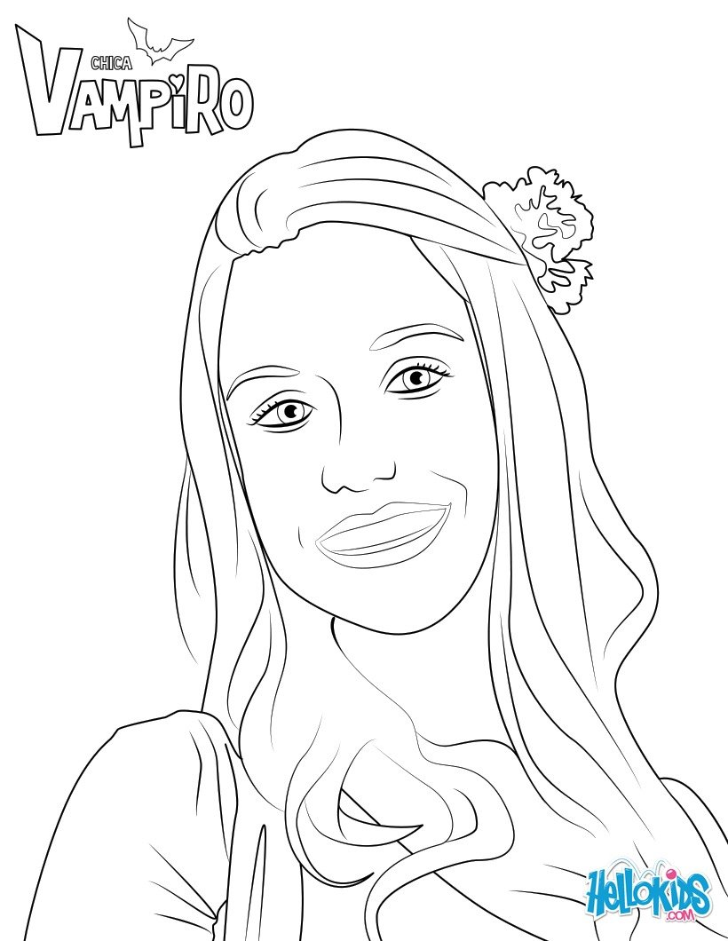 Coloriages marylin - Coloriage chica vampiro ...