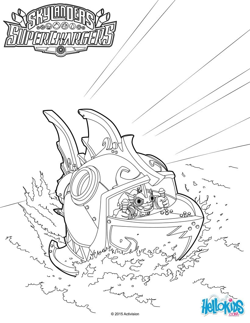 Coloriages reef ripper - Coloriage eye brawl ...