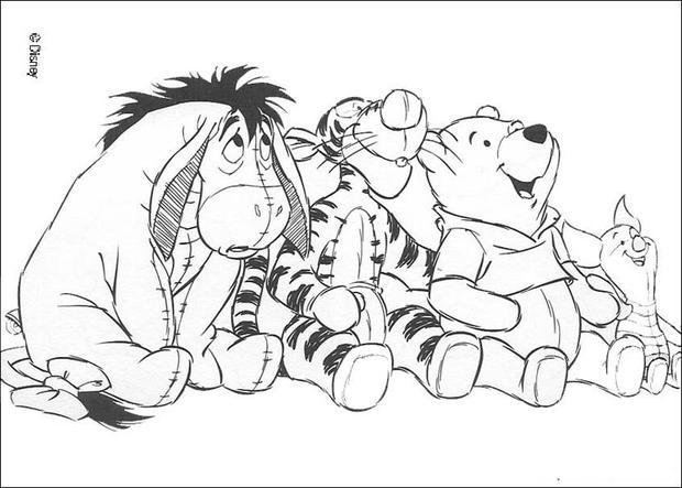Coloriages coloriage des peluches de winnie et ses amis - Coloriage winni l ourson ...
