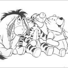 Coloriage Disney : Coloriage des peluches de Winnie et ses amis