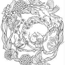 Mandala à motifs naturels