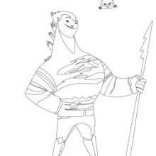 Coloriage : Sohone et sa lance