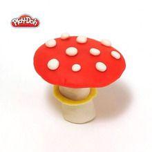 Des champignons en pâte à modeler