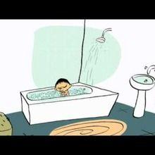 épisode de la tête à Toto : A la douche