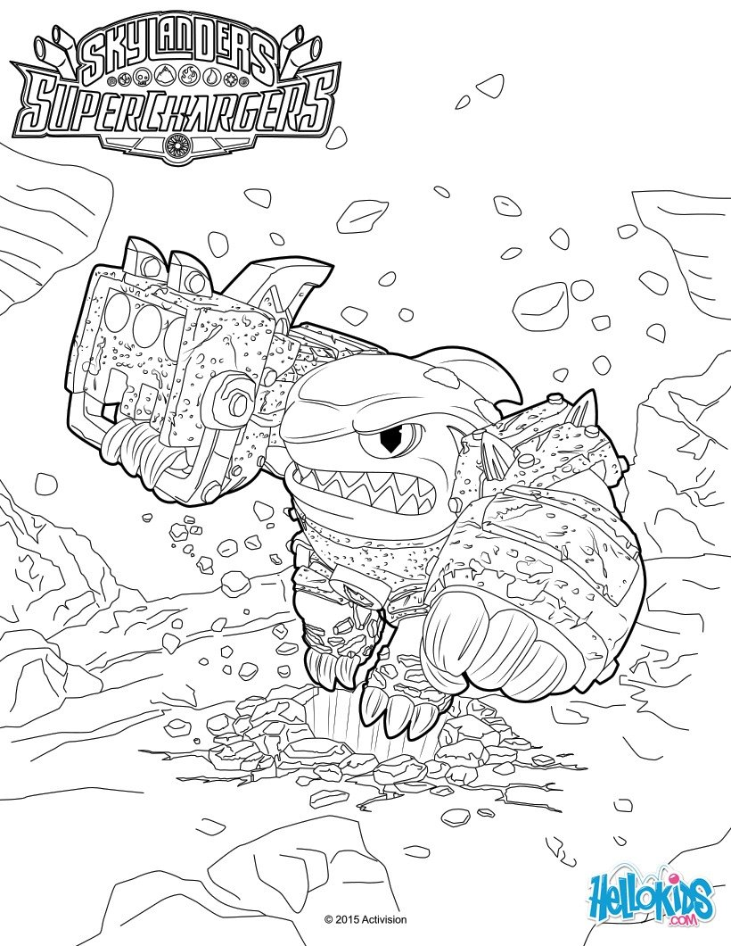 shark shooter terrafin coloring pages - photo#1