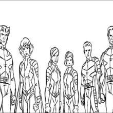Coloriage X-men : Coloriage des héros