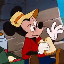 Mickey à la plage