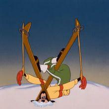 Dessin animé : L'art du ski !