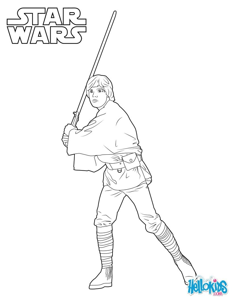 Coloriages luke skywalker - Stars wars coloriage ...