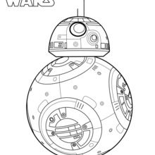 Coloriage Star Wars : BB8, le droïde de Star Wars 7