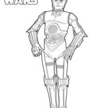Coloriage Star Wars : C3PO, droïde de protocole