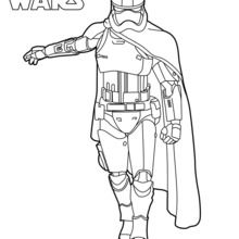Coloriage Star Wars : Capitaine Phasma - Le réveil de la Force