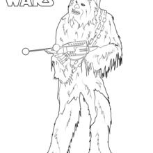 Coloriage Star Wars : Chewbacca, le wookie